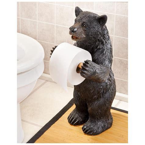 bear toilet paper holder  decorative accessories  sportsmans guide