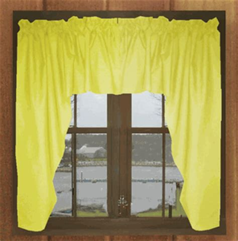 yellow swag curtains solid bright lemon yellow swag window valance