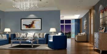 Blue Living Room Clip Modern Living Room With Blue Sofa Home Decor