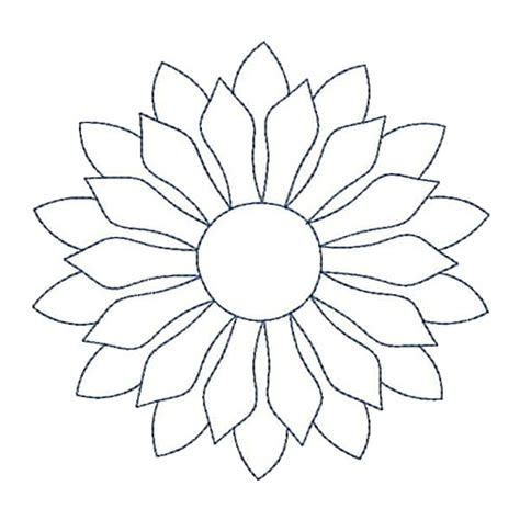 embroidery design outline sunflower quilt outline embroidery designs machine