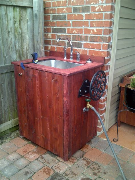 backyard gear outdoor sink with hose and hose reel outdoor sink outside pinterest