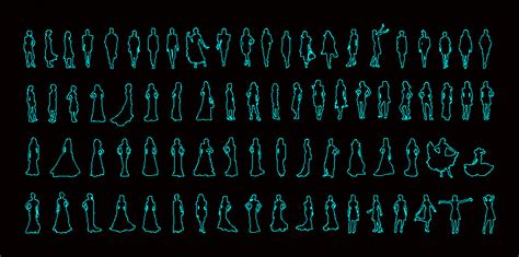 people silhouettes women dwg block  autocad designs cad
