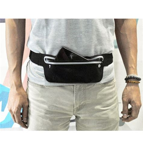 Waterproof Sports Go Belt With 4 Pockets waterproof sports belt with flat pocket ze wp300 black jakartanotebook