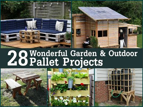 outdoor projects pallet garden ideas