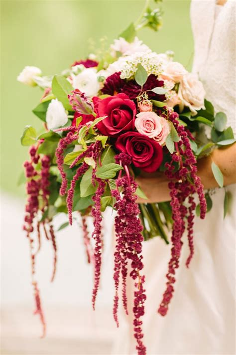 Hanging Bouquet by 19 Bridal Bouquets For Fall Featuring Hanging