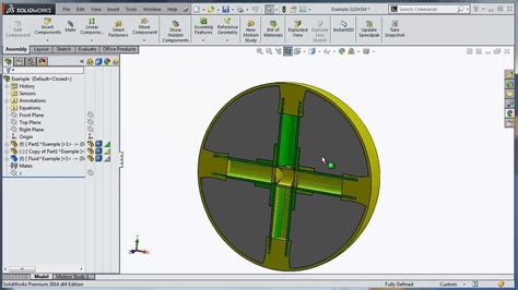 solidworks tutorial parts and assemblies solidworks tutorial filling a specific cavity using