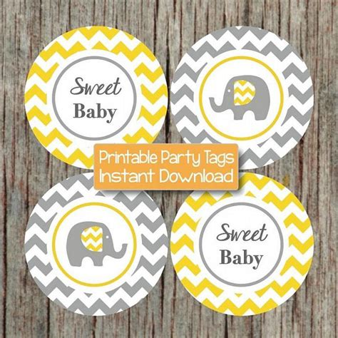 Yellow And Grey Elephant Baby Shower Decorations by Yellow Grey Baby Shower Decorations Bumpandbeyonddesigns