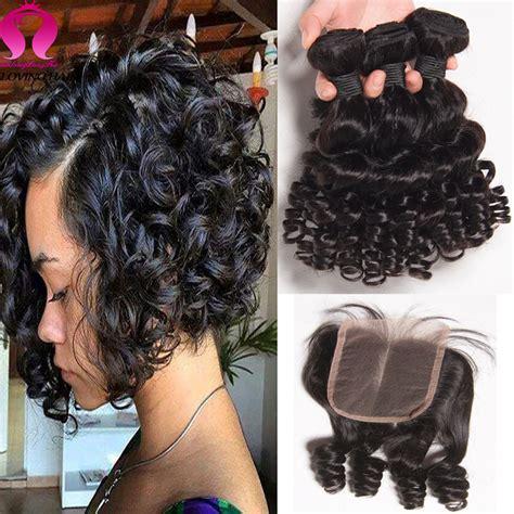 bob hair extensions with closures brazilian virgin hair with closure bob weave 3 bundels