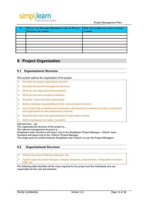 project management plan template doc project management plan template