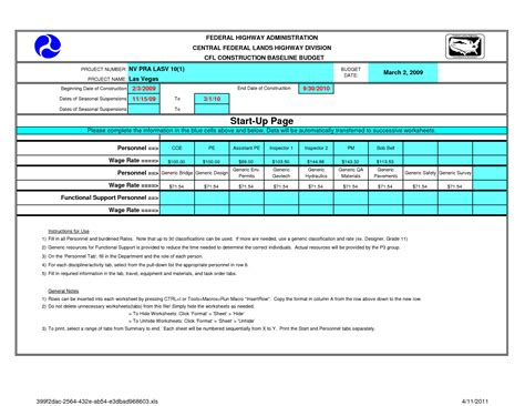 construction budget template project budget sheet excel monthly flow worksheet