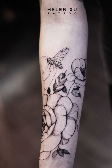 different flower tattoos small flower line watercolor unique