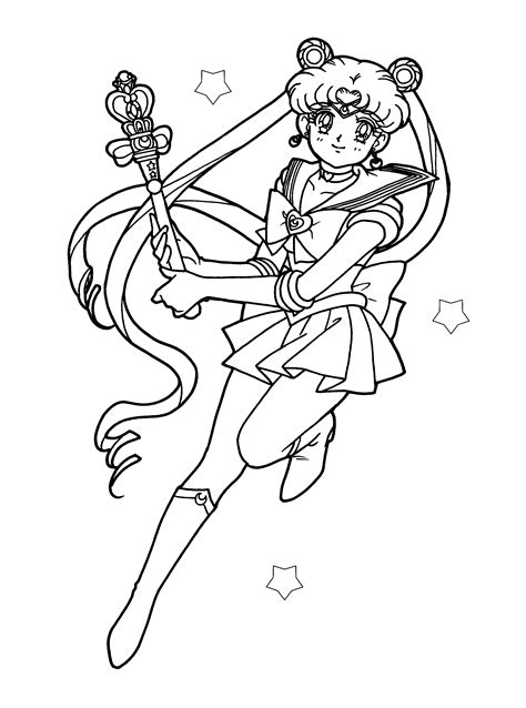 sailor moon color sailormoon coloring pages