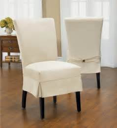 Dining Room Chair Covers Nz Duck Mid Pleat Relaxed Fit Dining Chair Slipcover With