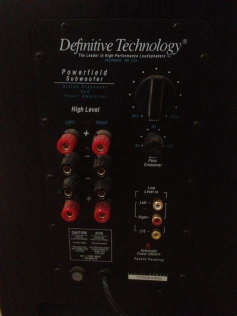 fs definitive technology  home theatre subwoofer