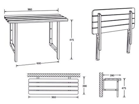 Handrail Industries Rail Industries Wall Mounted Shower Seats