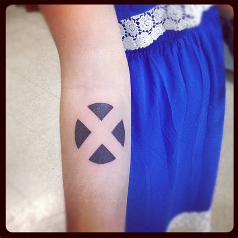 x tattoo on arm x men symbol arm tattoo tattoomagz