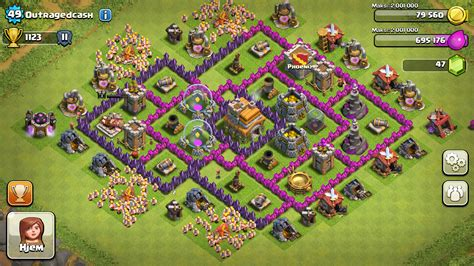 coc layout guide level 7 town hall defense hybrid www imgkid com the