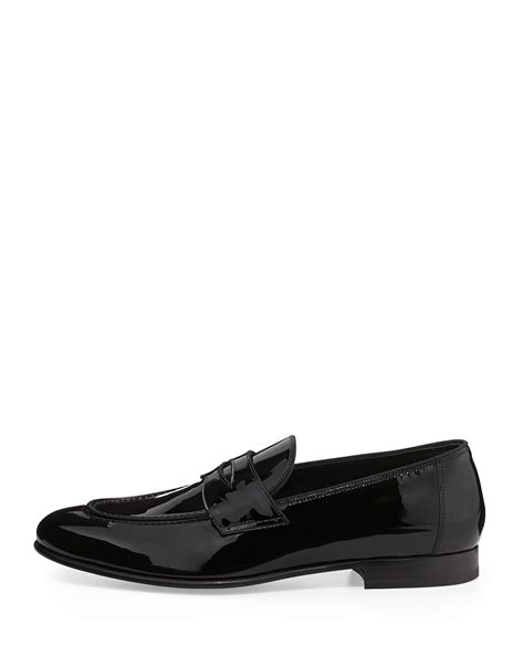tom ford mens loafers tom ford hugh patent loafer in black for lyst
