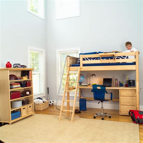 Kid Loft Bed With Desk 1 618 Maxtrix High Loft Bed W Angle Ladder Desk And 3 866 594 6890