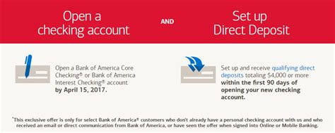 open a direct bank account targeted bank of america 300 checking bonus doctor of