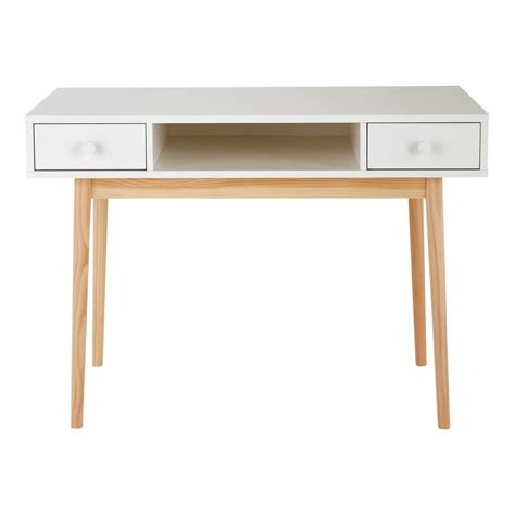 white 2 drawer desk maisons du monde