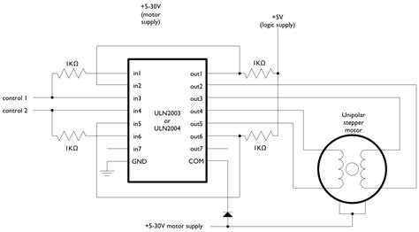 stepper motor wiring diagram 4 wire stepper motor wiring unipolar diagram to wiring