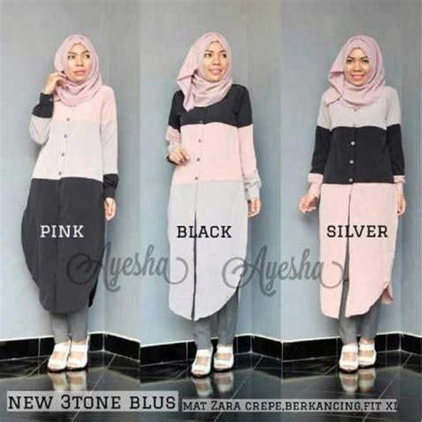 Sachi Tunik Pakaian Wanita Pakaian Modis Supplier Pakaian grosir pakaian modis baju modis 3 tone blouse grosir baju muslim