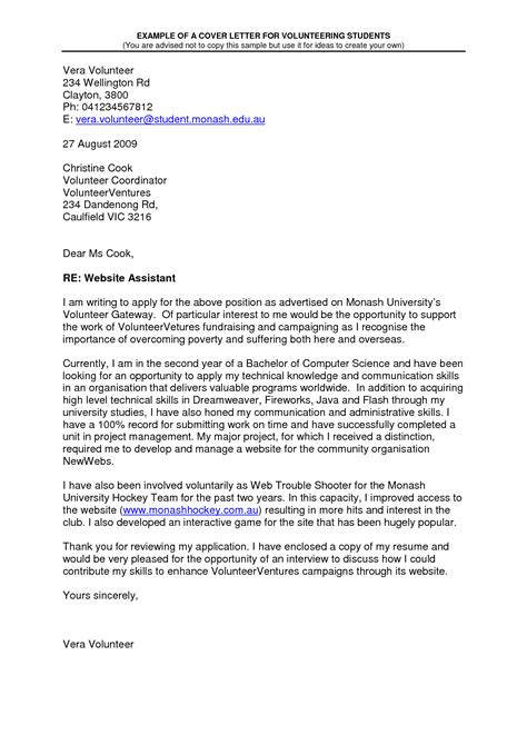 cover letter to volunteer cover letter for volunteer work in schools printable