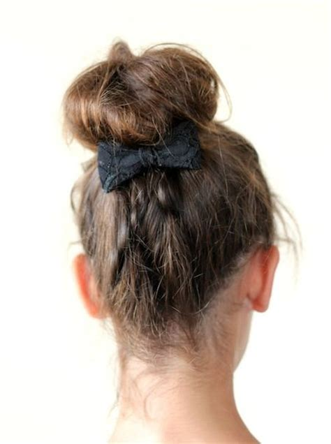 school hairstyles medium length hair back to school hairstyles for medium length hair top knot