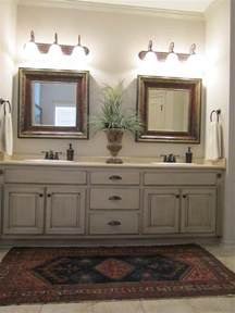 Painted Bathroom Wall Cabinets Painted And Antiqued Bathroom Cabinets Bathrooms