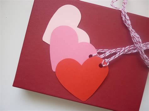 Card Gift Tags - heart shaped card gift tags with twine set of 6 felt
