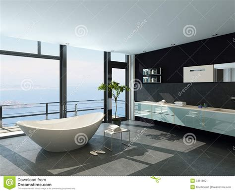 Luxury Mansion Floor Plans ultramodern contemporary design bathroom interior with sea