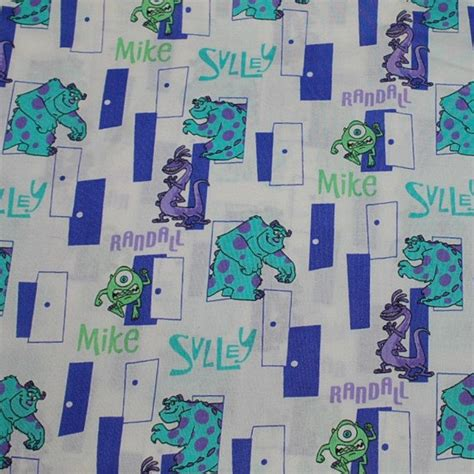 Monsters Inc Quilt by Fq Disney Monsters Inc Cotton Quilt Fabric With Mike