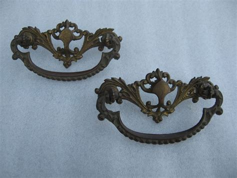 ebay vintage set of 2 antique vintage metal drawer pulls ebay