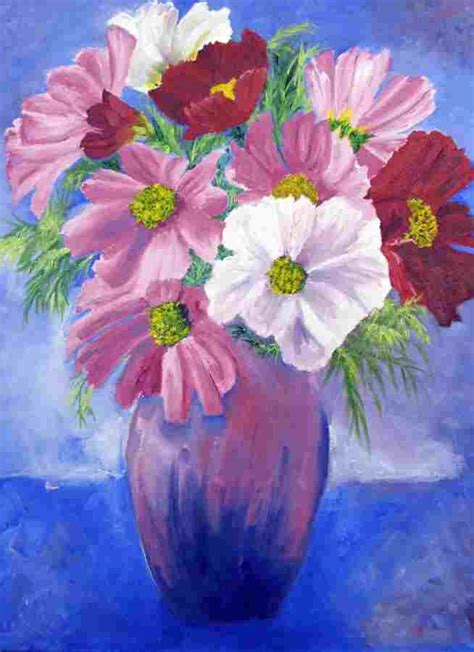 Ideas For Painting paintings of flowers