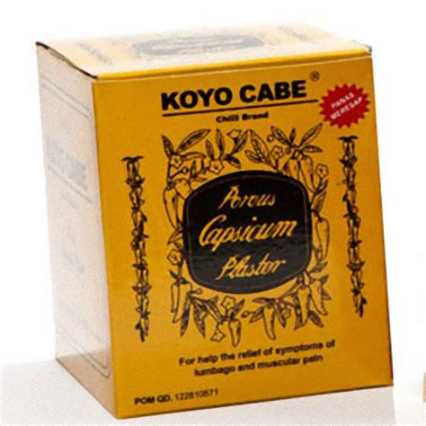 Koyo Cabe Pak By Cngshop koyo cabe chilli brand porous capsicum plaster standard