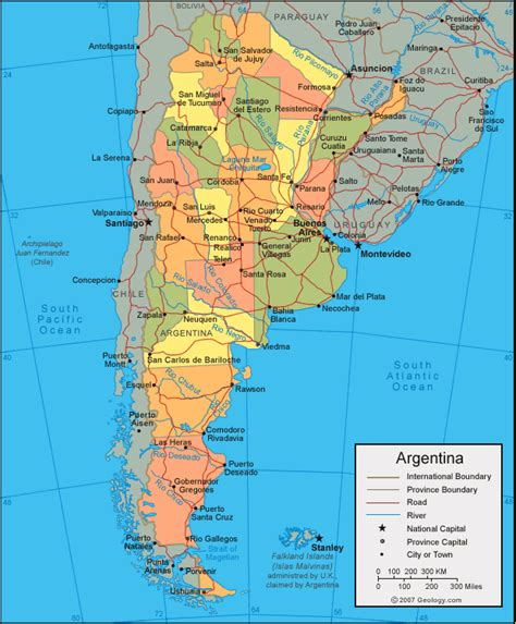 map of argentina with cities map of argentina planetolog