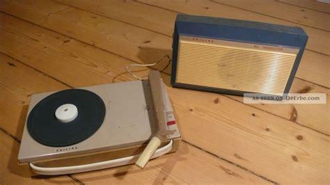 Steiff Decke Koralle by Phillips Plattenspieler All Transistor Tragbar 60er Jahre
