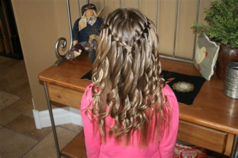 cgh hairstyles curls waterfall braid with spiral curls cute hairstyles cute