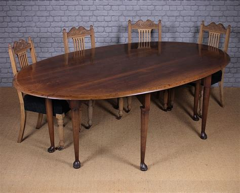 Oak Drop Leaf Dining Table Antiques Atlas Large Oak Drop Leaf Dining Table