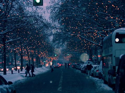 christmas lights and snow pics from tumblr happy holidays