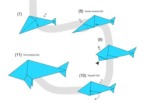 How To Make 3d Origami Fish - make your own origami fish http origami island three net