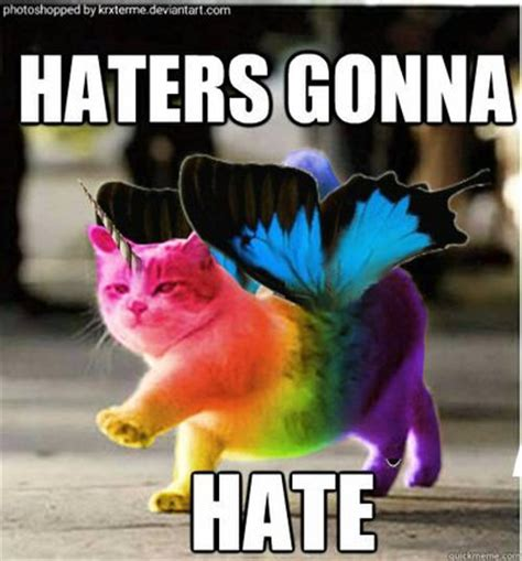 Unicorn Meme - rainbow butterfly unicorn cat by krxterme on deviantart