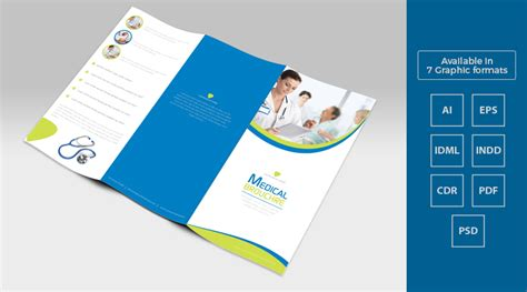 tri fold medical brochure template design in ai eps pdf