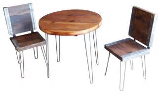 With 2 industrial chairs rustic patio furniture and outdoor furniture
