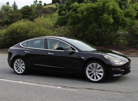 Tesla S Pictures Tesla Model 3 Midnight Grey Spotted Near Tesla Hq