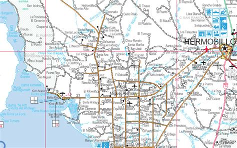 hermosillo sonora mexico map hermosillo sonora mexico map