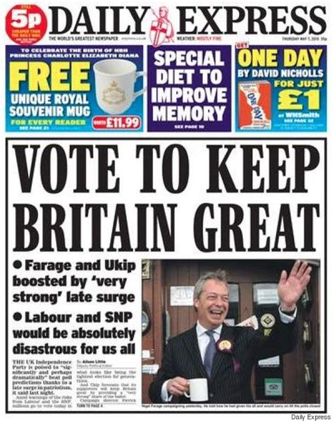 express page general election front pages show hysteria continues even