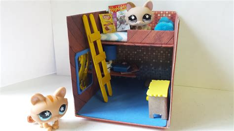 how to make a lps bedroom for boy or dollhouse