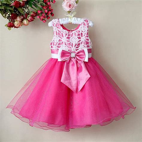 Princes Gown Tutu Dress Baby 8 Thn Code A3 2018 pink lace bow baby princess dress tutu